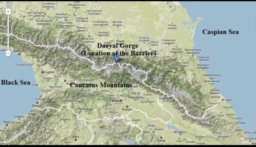1 Daryal Gorge - Location of the Barrier