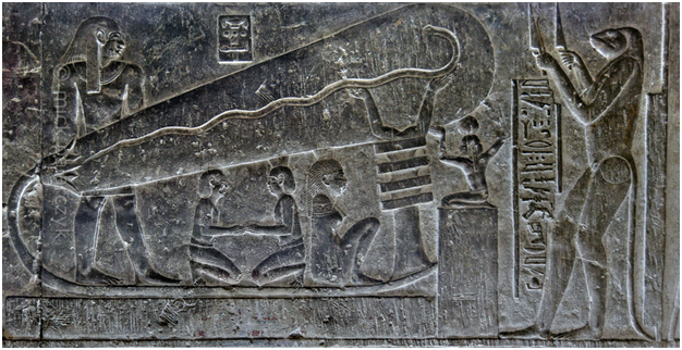 The depiction of the Dendera Light Bulb