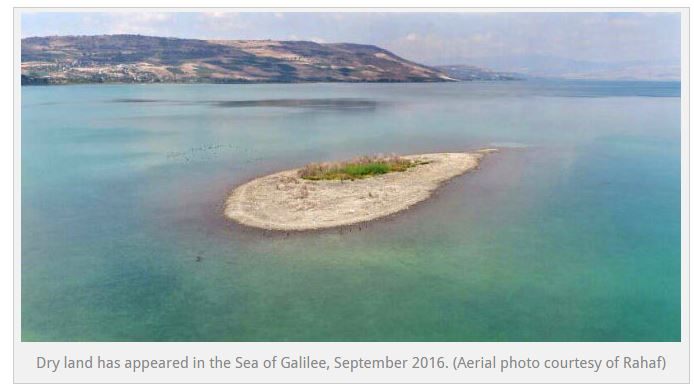 Island in sea of galilee
